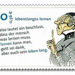 Lernen-briefmarke